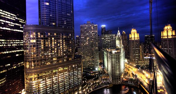 public domain images free stock photos chicago skyline night 時間帯によって働き方を変えるべし!時間帯に適した仕事・行動・メンタルなどについて