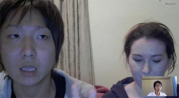 skype4 幸せいっぱい!カナダの国際カップルに突撃インタビュー!(日本人男性&カナダ人女性)